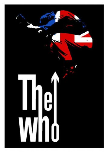THE WHO - GUITAR LEAP UK -  canvas print - self adhesive poster - photo print